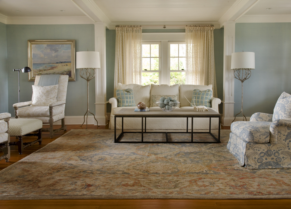 Neutral Oriental Rug Room Setting Pv Rugs