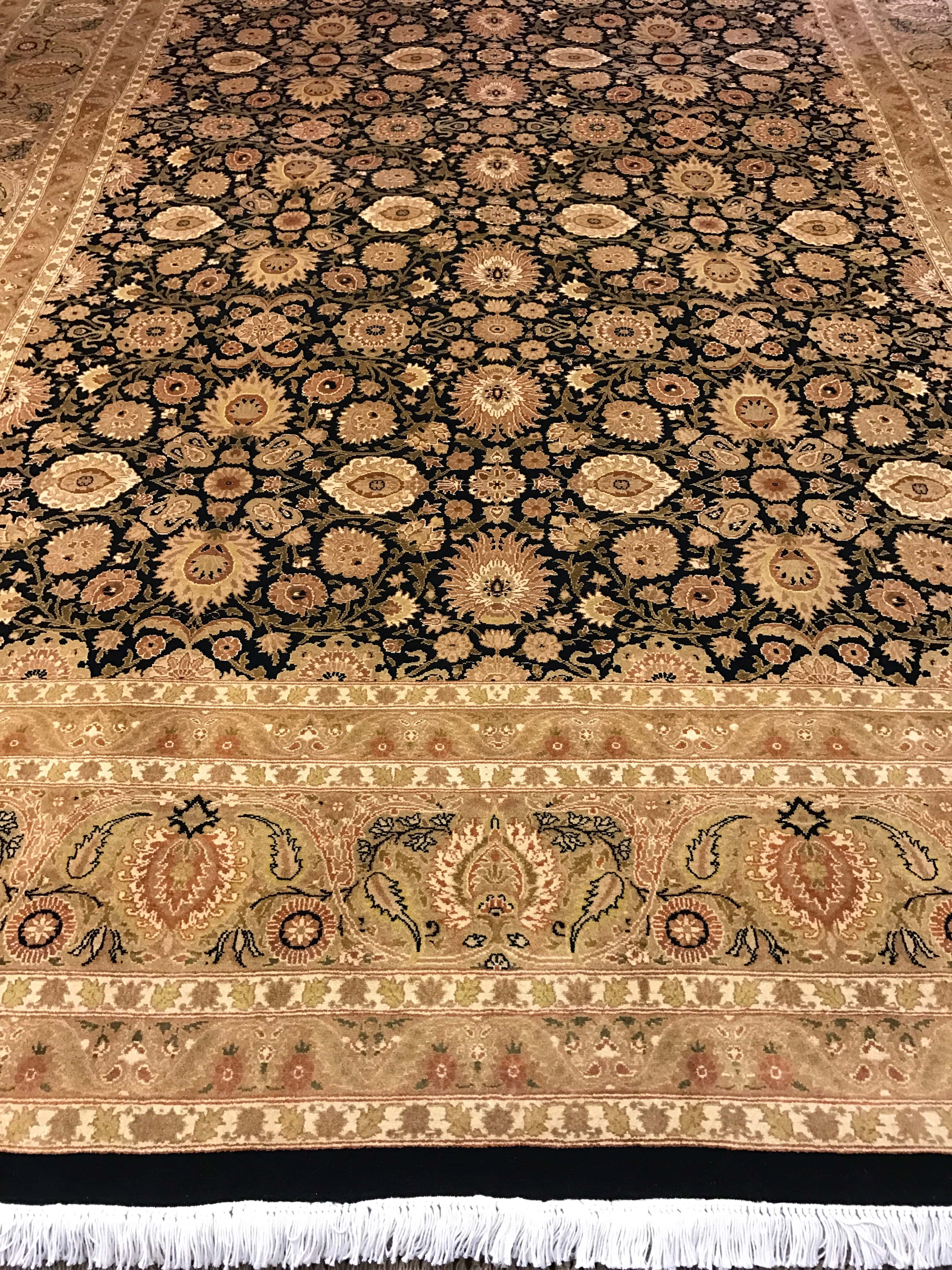wool overstock rug shipping golden round jaipur product today handmade x home safavieh free garden black and gold abef