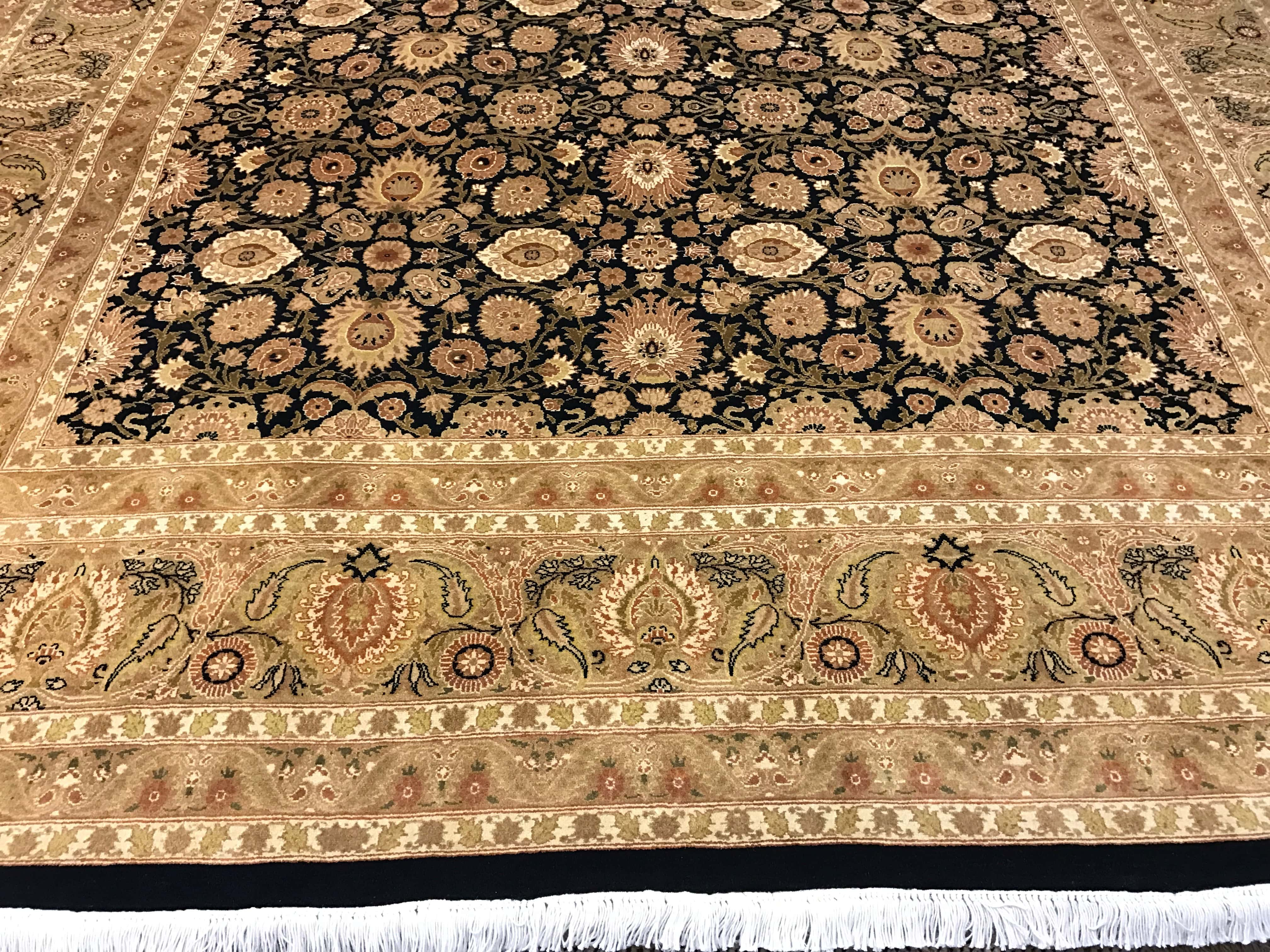 Black And Gold Traditional Rug