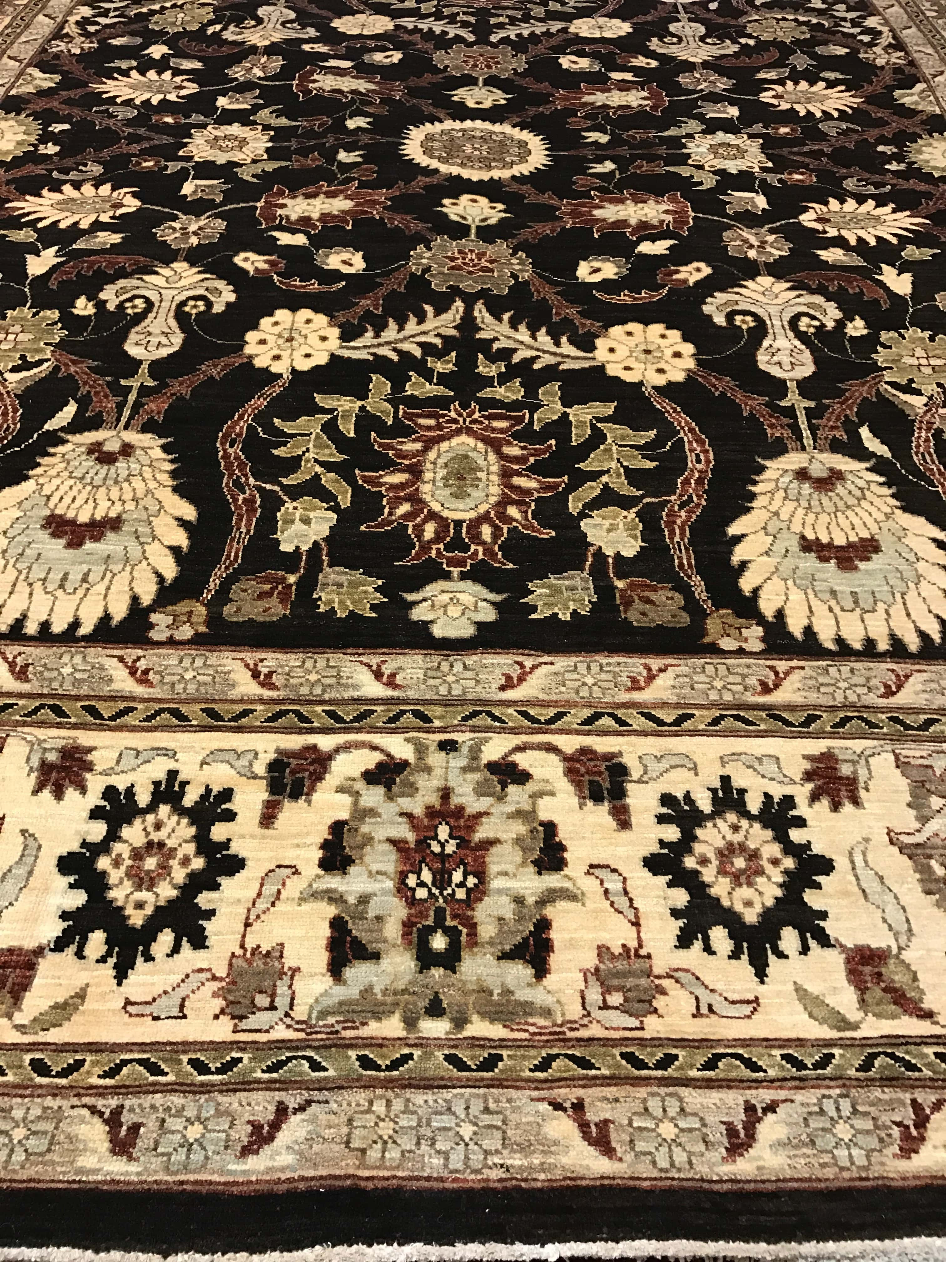 Dark Brown Traditional Wool Rug Scottsdale Az Pv