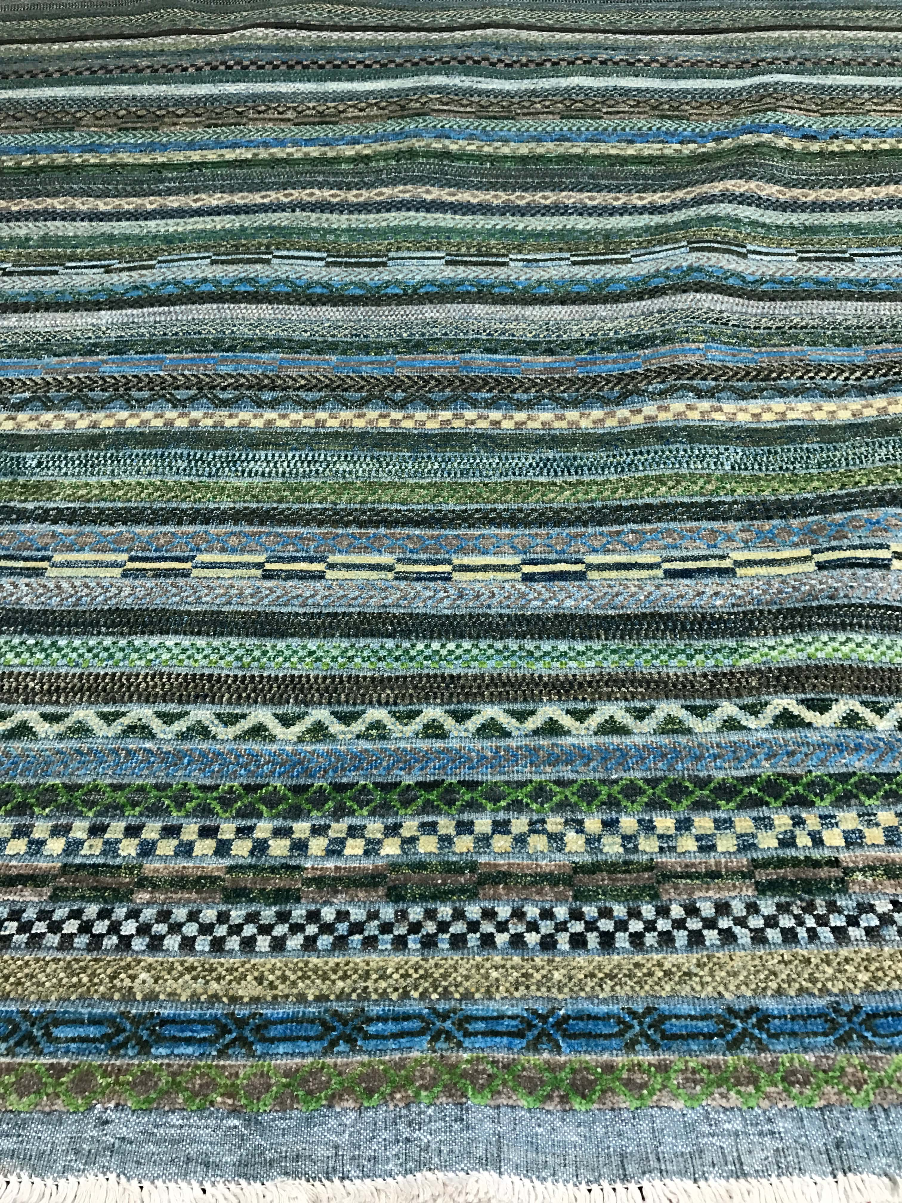 South West Green And Blue Rug High And Low Design Scottsdale AZ Overview PV  Rugs